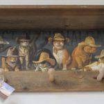 Rustic 3 peg Cowboy cats