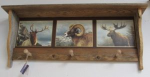 Rustic 3 peg Elk Ram Moose
