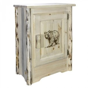 Cascade Accent Cabinet Bear Laser (Clear)