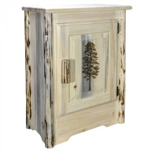 Cascade Accent Cabinet Pine Laser (Clear)