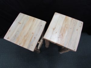 Rustic Pine Accent Tables No Shelf b