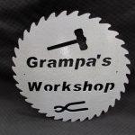 Grampa's Workshop Sign- round 245