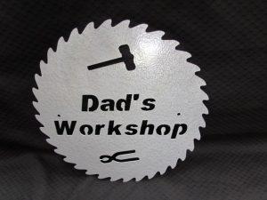 Dad's Workshop Sign- round 246