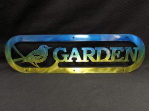 Garden Sign With Bird 284