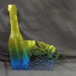 Wine Bottle with Grapes 342 a