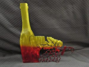Wine Bottle with Grapes 342 b