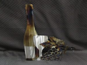 Wine Bottle with Grapes 342 d