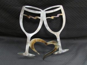 Wine Glasses with ♥ 345