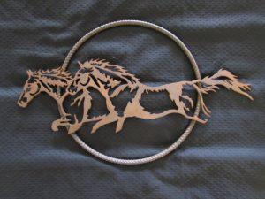Running Horses In Rebar Circle 369
