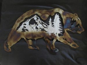Grizzly Bear w/ Mountain Scene- large 439