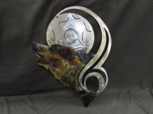 Tribal Wolf Head with Moon 464 a