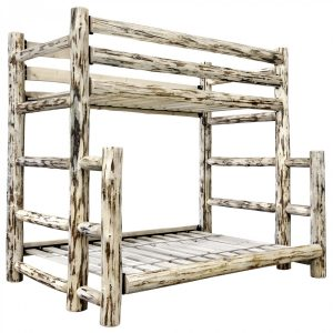 CC Twin-Full Bunk Bed (Clear)