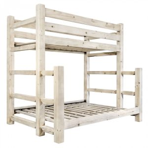 HC Twin-Full Bunk Bed (Clear)