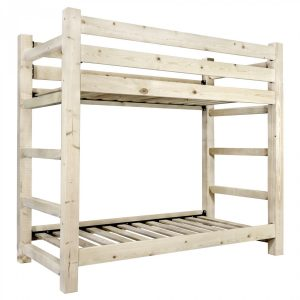 HC Twin-Twin Bunk Bed (Clear)