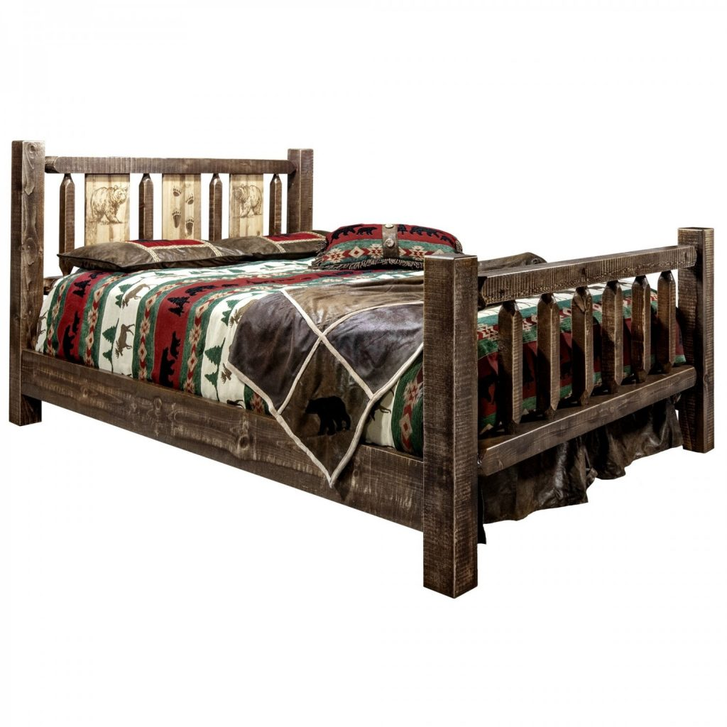 Homestead Bed Bear Laser (Stained)