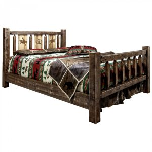 Homestead Bed Bronc Laser (Stained)