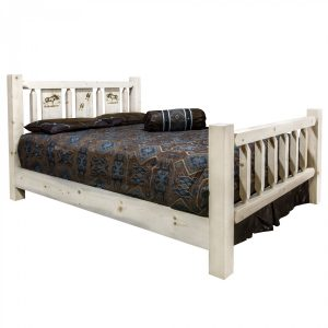 Homestead Bed Moose Laser (Clear)
