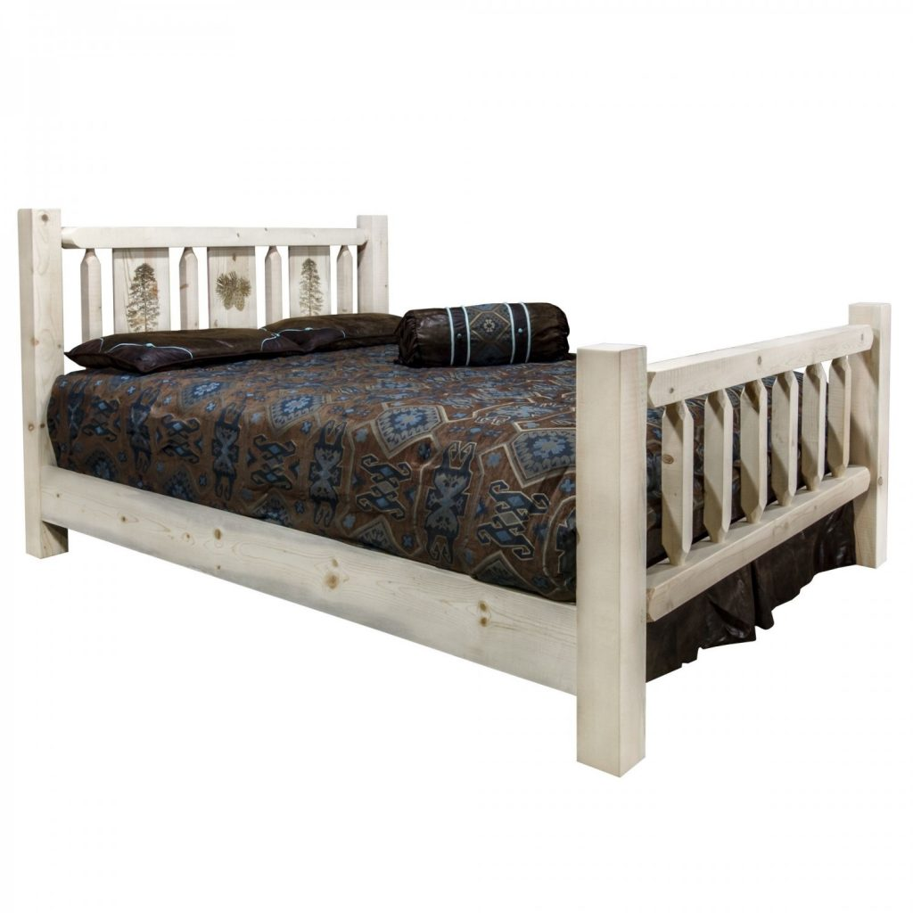 Homestead Bed Pine Tree Laser (Clear)