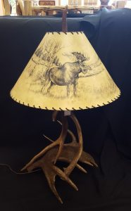Deer Elk Moose Antler Lamp a