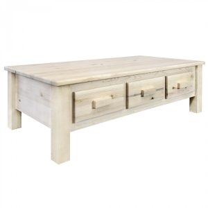 Homestead Coffee Table 6 Drawer (Clear)
