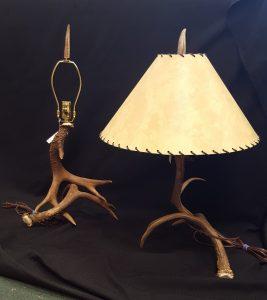 Two Deer Antler Lamps a