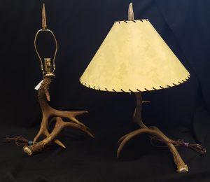 Two Deer Antler Lamps b